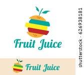 fruit juice logo | Shutterstock .eps vector #626938181