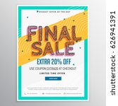 final sale discount voucher in... | Shutterstock .eps vector #626941391