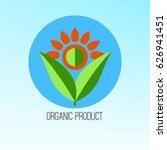 logo organic  bio  eco product. ... | Shutterstock .eps vector #626941451