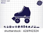 vector illustration of roller... | Shutterstock .eps vector #626942324