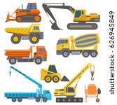 construction equipment and... | Shutterstock .eps vector #626945849