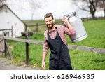 portrait of a handsome milkman... | Shutterstock . vector #626946935