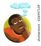 isolated icon of an african fat ... | Shutterstock .eps vector #626947139