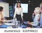 business woman in conference... | Shutterstock . vector #626948621