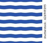 hand drawn wavy sailor stripes  ... | Shutterstock .eps vector #626949395