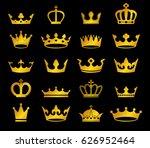 vector set of retro golden... | Shutterstock .eps vector #626952464
