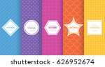 cute bright seamless pattern... | Shutterstock .eps vector #626952674