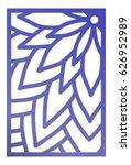 vector laser cut panel. pattern ...   Shutterstock .eps vector #626952989