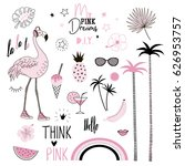pink dreams graphic elements... | Shutterstock .eps vector #626953757