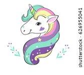 unicorn pop art | Shutterstock .eps vector #626955041