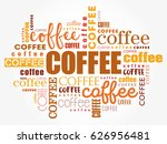 coffee words cloud collage ... | Shutterstock .eps vector #626956481