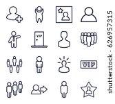 member icons set. set of 16... | Shutterstock .eps vector #626957315