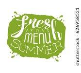 fresh summer menu green label ...   Shutterstock .eps vector #626958521