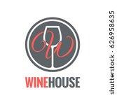 wine glass logo design... | Shutterstock .eps vector #626958635