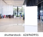 mock up sign stand on table... | Shutterstock . vector #626960951