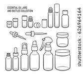 essential oil jars and bottles...   Shutterstock .eps vector #626964164