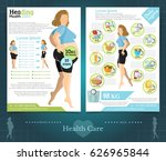 two sided brochure or flayer... | Shutterstock .eps vector #626965844