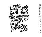 hand lettering inspirational... | Shutterstock .eps vector #626967959