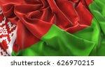 belarus flag ruffled...   Shutterstock . vector #626970215
