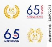 65 years anniversary set.... | Shutterstock . vector #626972045