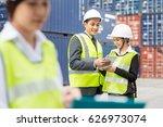 asian businessman and asian...   Shutterstock . vector #626973074