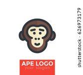 ape  chimp vector logo element | Shutterstock .eps vector #626973179