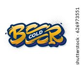 cold beer. hand drawn lettering | Shutterstock .eps vector #626973551