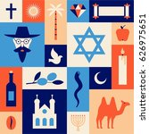 israel  vector travel... | Shutterstock .eps vector #626975651
