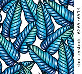 colorful tropical pattern with... | Shutterstock .eps vector #626976914