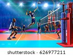 professional volleyball players ... | Shutterstock . vector #626977211