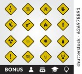 caution warning signs | Shutterstock .eps vector #626978891
