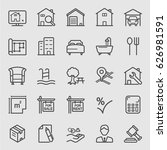 real estate line icon | Shutterstock .eps vector #626981591