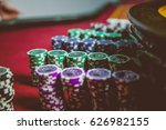casino chips are colorful game... | Shutterstock . vector #626982155