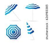 beach sun umbrellas collection. ... | Shutterstock .eps vector #626983385