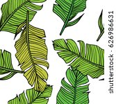 vector pattern with hand drawn... | Shutterstock .eps vector #626986631