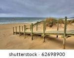 Wooden Walk Way Over Sand Dune...