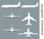 airplane graphic set  | Shutterstock .eps vector #626989769