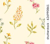 gentle watercolor floral...   Shutterstock . vector #626990861