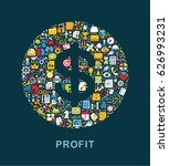business icons are grouped in ... | Shutterstock .eps vector #626993231