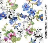 bright fairytale watercolor... | Shutterstock . vector #626994329