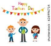 vector illustration of happy... | Shutterstock .eps vector #626996714