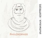 ancient scientist  philosopher... | Shutterstock .eps vector #626998181