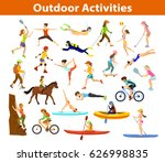 summer outdoor  beach sports... | Shutterstock .eps vector #626998835