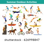 summer outdoor  beach  sports... | Shutterstock .eps vector #626998847