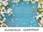 spring background  frame of... | Shutterstock . vector #626999969