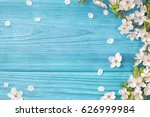spring background  frame of... | Shutterstock . vector #626999984
