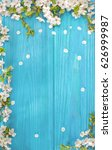 spring background  frame of... | Shutterstock . vector #626999987