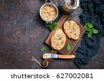 fresh homemade chicken liver... | Shutterstock . vector #627002081