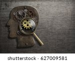 psychology or invent concept.... | Shutterstock . vector #627009581