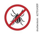 drawn mite in crossed out...   Shutterstock .eps vector #627014309
